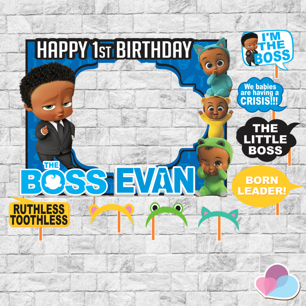 Boss Baby Birthday Boss Baby Frame And Props Boss Baby Pops Aa