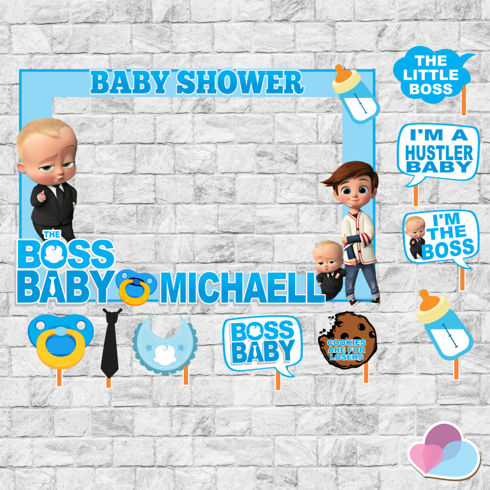 Boss Baby Birthday Party Boss Baby Frame And Props Boss Baby Pops