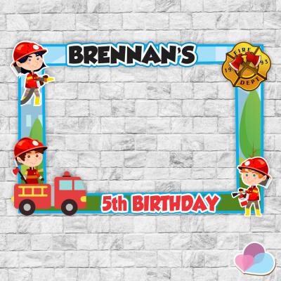 Fireman Photo Booth frame,...