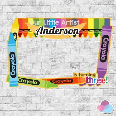 Crayon Photo Booth frame,...