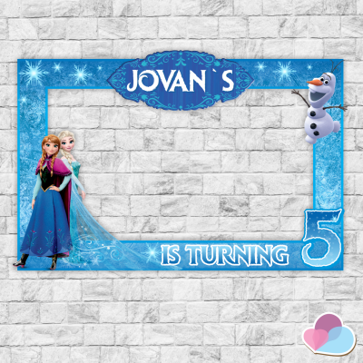Frozen Photo booth Frame,...