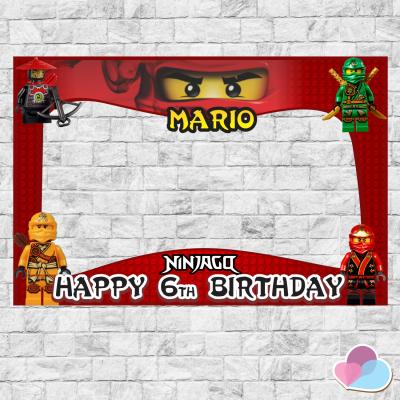 Ninjago Photo Booth frame,...