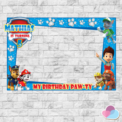Paw Patrol Photo Booth...