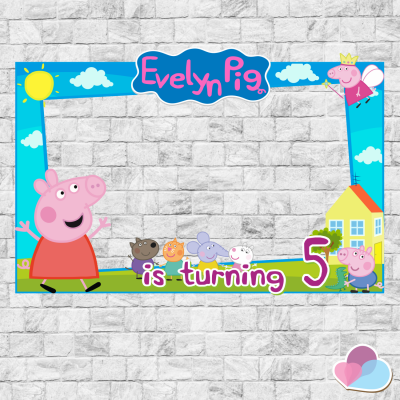 Peppa Pig Photo Booth prop,...