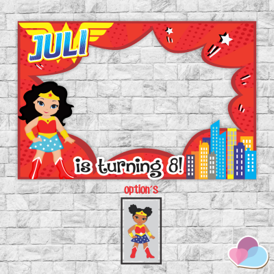 Super girl Photo Booth,...