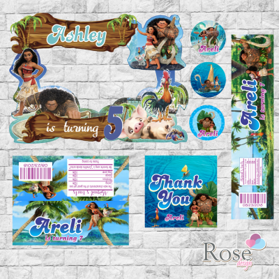Moana party package,...