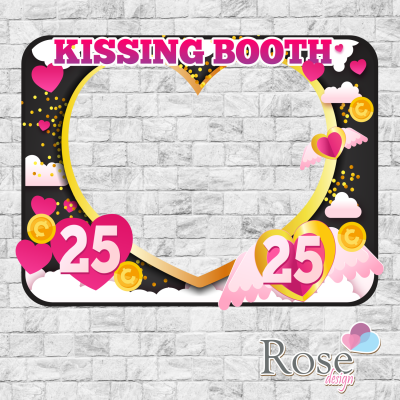 Printable KISSING BOOTH...