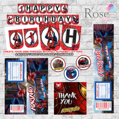 Spiderman party package,...