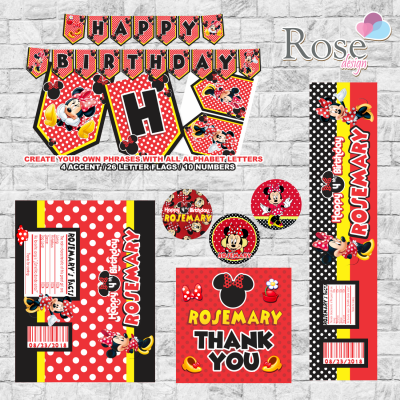 Red Minnie party package,...