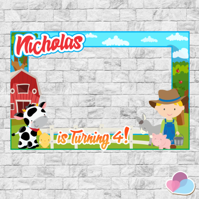 Farm Photo Booth frame,...