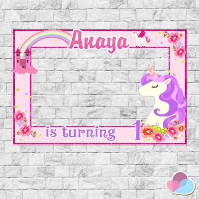 Unicorn Photo Booth frame,...