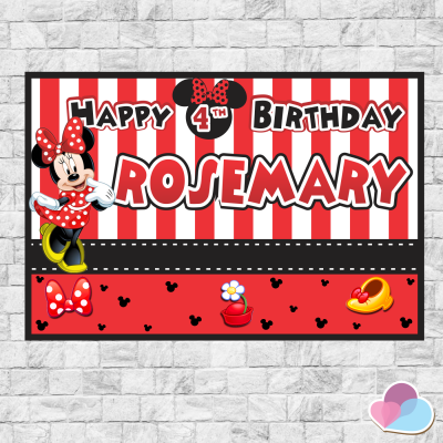 Minnie Mouse Backdrop /...
